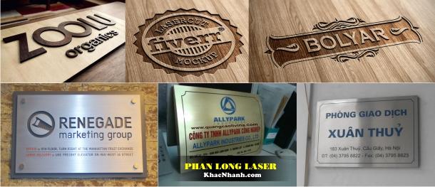 Địa chỉ Làm biển quảng cáo khắc Laser tại Cầu Giấy, Thanh Xuân, Hà Nội