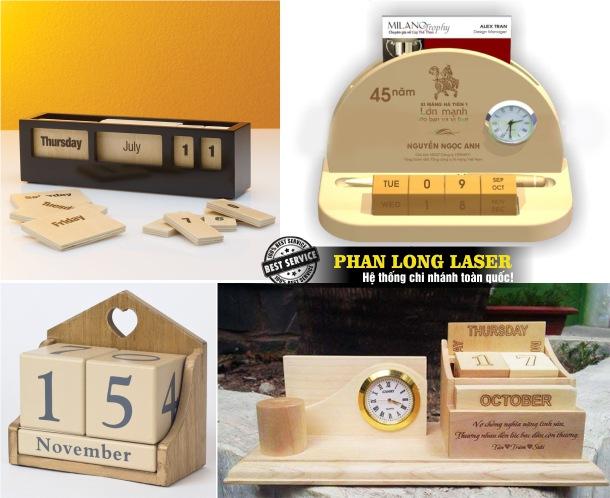 Mua sỉ, mua buôn, mua lẻ lịch gỗ để bàn ở đâu giá rẻ nhất được khắc laser miễn phí