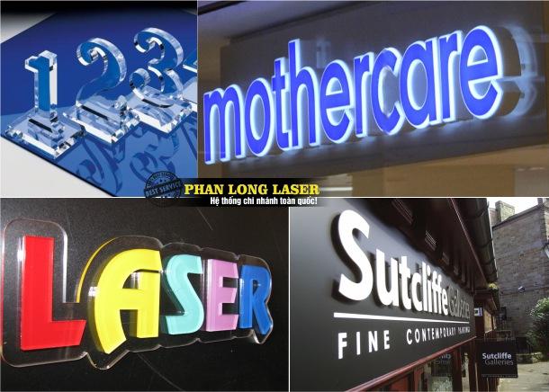 Cắt chữ Nổi Mica Nhựa bằng Laser tại Tphcm Hà Nội Đà Nẵng Cần Thơ