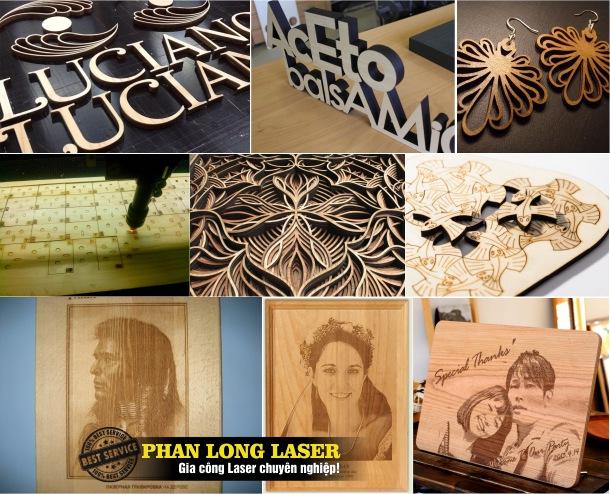 Khắc Laser trên gỗ tại Quận Hai Bà Trưng