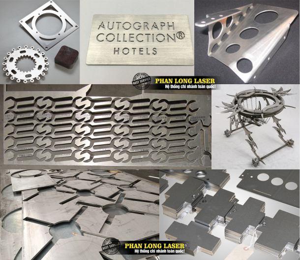 Địa chỉ cơ sở nhận cắt hoa văn trên kim loại inox đồng nhôm sắt thép bằng máy laser fiber