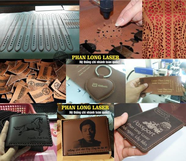 Cơ sở chuyên nhận cắt khắc laser trên da, ví da, bóp da, móc khóa da tại Quận 10 Sài Gòn