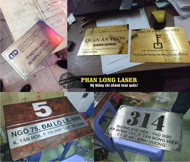Khắc ăn mòn kim loại inox bằng axit điện hóa để làm biển quảng cáo, biển văn phòng, biển số nhà, tem nhãn mác kim loại inox