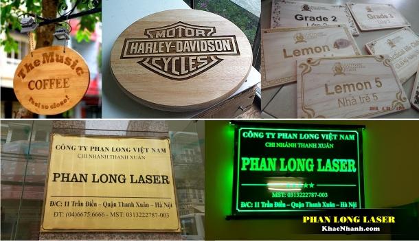Địa chỉ nơi làm biển quảng cáo khắc Laser theo yêu cầu tại TPHCM và Hà Nội