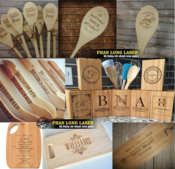Địa chỉ khắc laser theo yêu cầu lên các sản phẩm quà tặng được làm bằng gỗ lấy nhanh giá rẻ