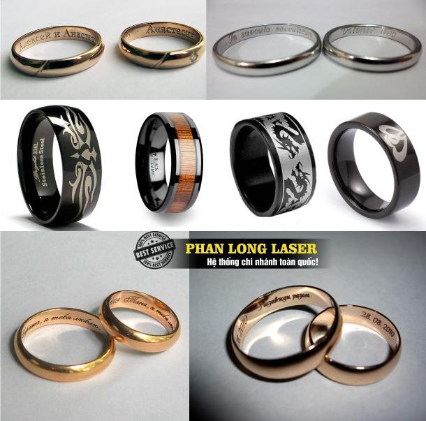 Địa chỉ cơ sở chuyên nhận khắc laser theo yêu cầu lên nhẫn cưới, nhẫn vàng, nhẫn bạc, nhẫn inox, nhẫn kim loại tại Hà Nội