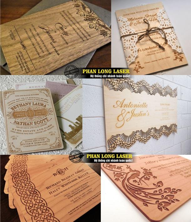 Địa chỉ khắc thiệp cưới bằng gỗ theo yêu cầu lấy ngay, lấy liền giá rẻ