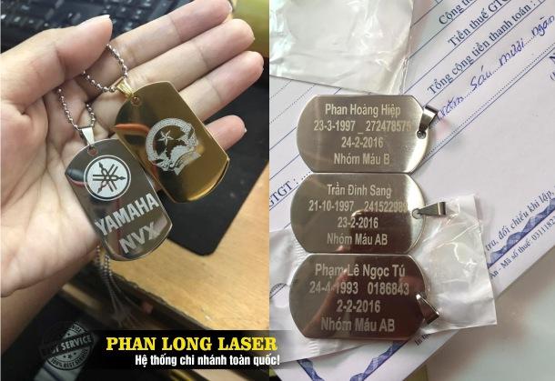 Khắc laser lên mặt dây chuyền quân đội, vòng cổ quân nhân, vòng đeo cổ lính Mỹ