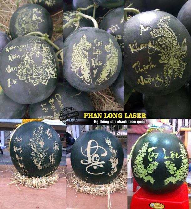 Xưởng gia công khắc laser trên dưa hấu giá rẻ tại Tphcm Sài Gòn, Đà Nẵng, Hà Nội và Cần Thơ