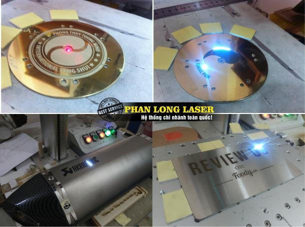 Khắc kim loại bằng máy laser và máy cnc