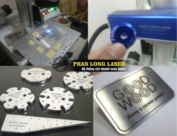 Sử dụng máy khắc laser để khắc tạo hình theo yêu cầu trên kim loại lấy nhanh lấy liền giá rẻ