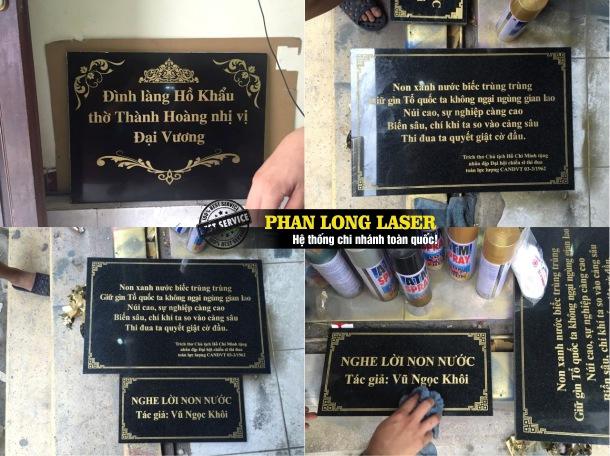Địa chỉ khắc laser theo yêu cầu lên biển bảng quảng cáo bằng đá giá rẻ