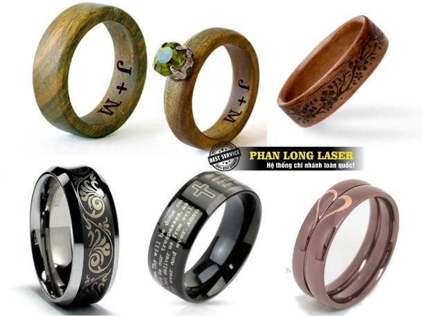 Xưởng khắc laser theo yêu cầu lên các sản phẩm nhẫn cưới uy tín giá rẻ lấy liền tại Hà Nội