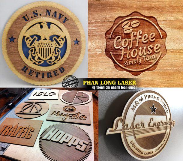 Công ty chuyên nhận thiết kế và thi công các loại bảng hiệu, biển hiệu quảng cáo bằng gỗ chữ nổi khắc chìm laser đẹp