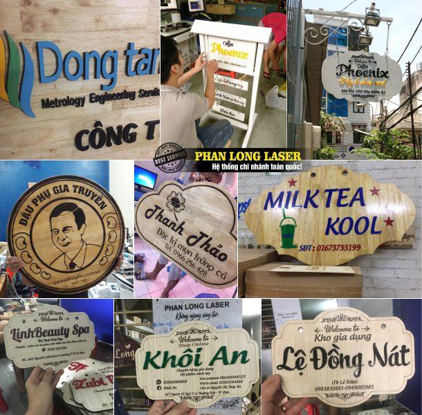 Làm biển quảng cáo bằng gỗ cho quán cafe, quán ăn, nhà hàng, quán nhậu, shop thời trang, shop quà tặng, tiệm nail, tiệm hớt tóc