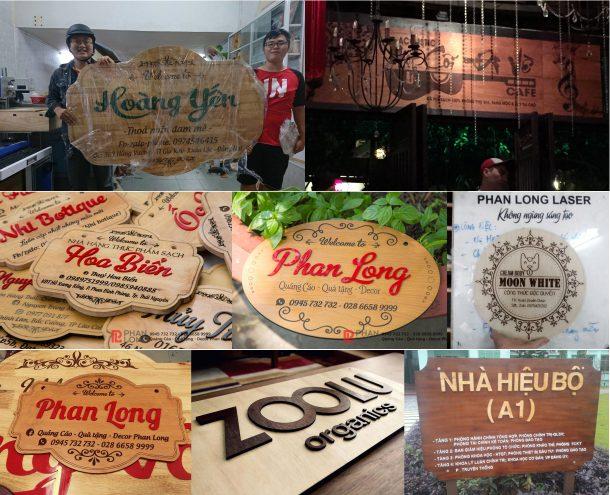 Công ty chuyên thiết kế làm biển gỗ tên shop, bảng gỗ treo tường quảng cáo giá rẻ làm nhanh lấy liền
