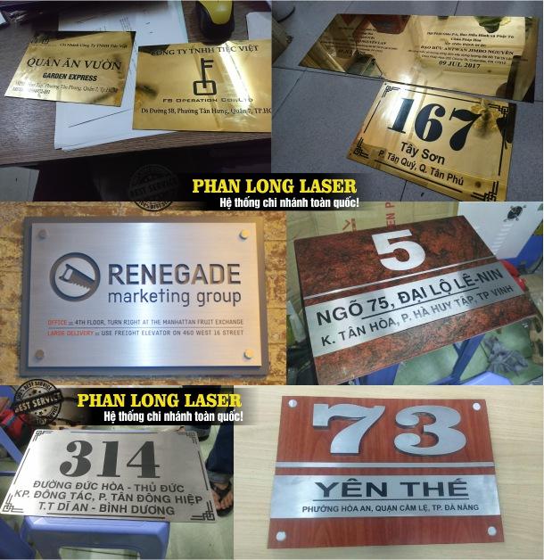 Làm biển văn phòng, biển số nhà, biển quảng cáo kim loại inox tại Tp Hồ Chí Minh, Sài Gòn, Đà Nẵng, Hà Nội và Cần Thơ