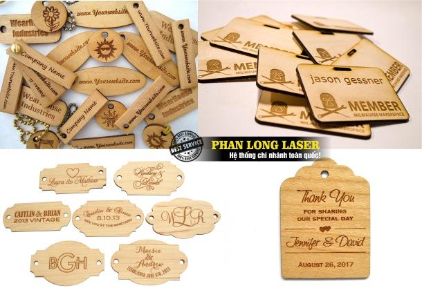 Xưởng sản xuất tem nhãn mác bằng gỗ theo yêu cầu giá rẻ