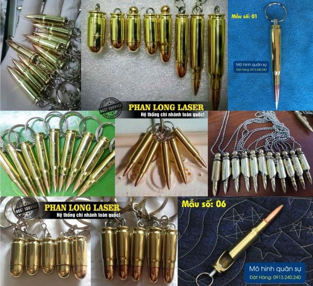 Xưởng sản xuất làm theo yêu cầu các sản phẩm móc khóa vỏ đạn, móc khóa cát tút đạn và khắc laser theo yêu cầu lên móc khóa vỏ đạn giá cực rẻ