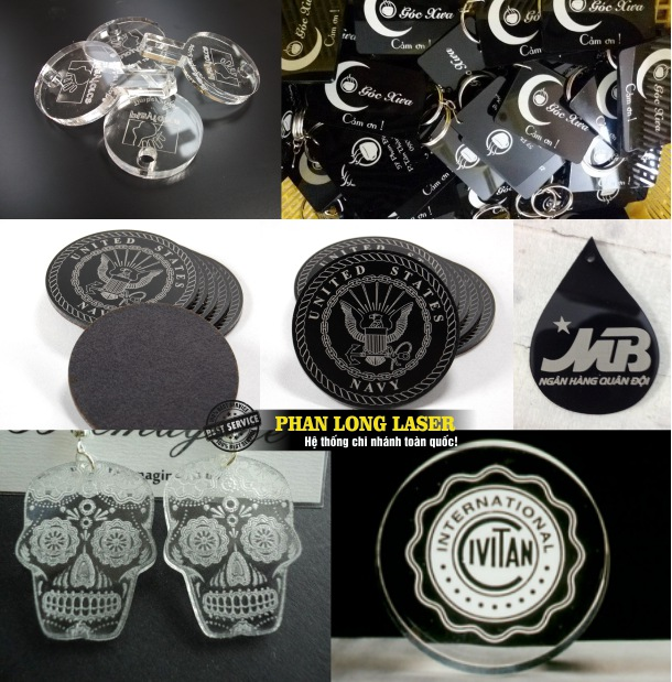 Công ty sản xuất móc chìa khóa mica khắc laser theo yêu cầu giá rẻ tại Tphcm Sài Gòn, Đà Nẵng, Hà Nội và Cần Thơ