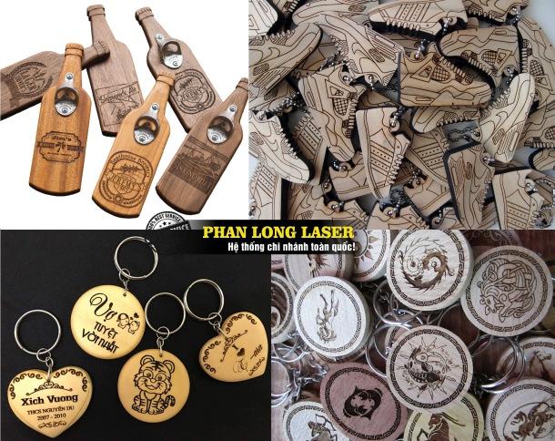 Xưởng sản xuất bán buôn bán sỉ bán lẻ các sản phẩm móc khóa gỗ khắc laser theo yêu cầu giá rẻ