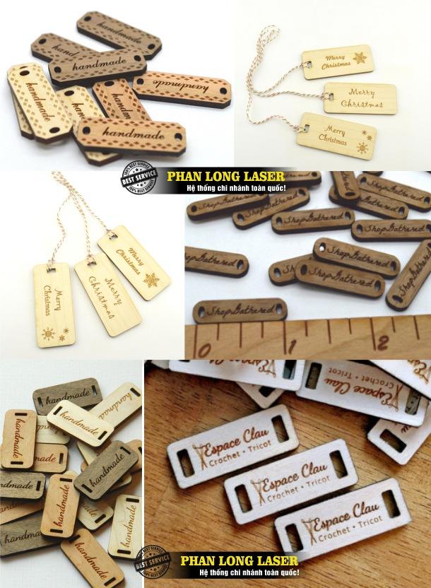 Xưởng sản xuất tem nhãn mác bằng gỗ theo yêu cầu lấy ngay lấy liền giá rẻ