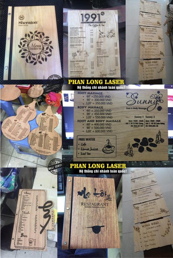 Địa chỉ nhận thiết kế và làm menu bìa bằng gỗ rất sang trọng và tinh tế