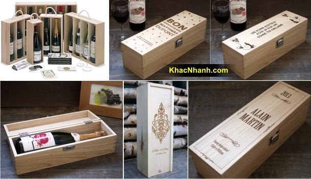 Địa chỉ cơ sở sản xuất hộp gỗ thông đựng rượu HCM, HN, Cần Thơ