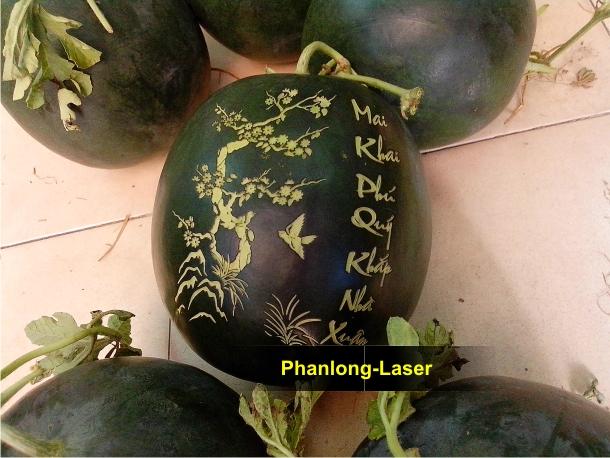 Địa chỉ cơ sở nhận khắc dưa hấu phục vụ tết bằng Laser