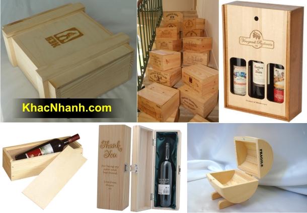 Sản xuất hộp gỗ thông đựng rượu tại Cần Thơ