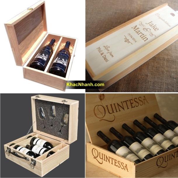 Địa chỉ làm hộp gỗ thông đựng rượu tại HN