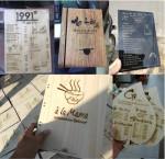 Thiết kế sản xuất menu bìa gỗ bìa mica theo yêu cầu giá rẻ